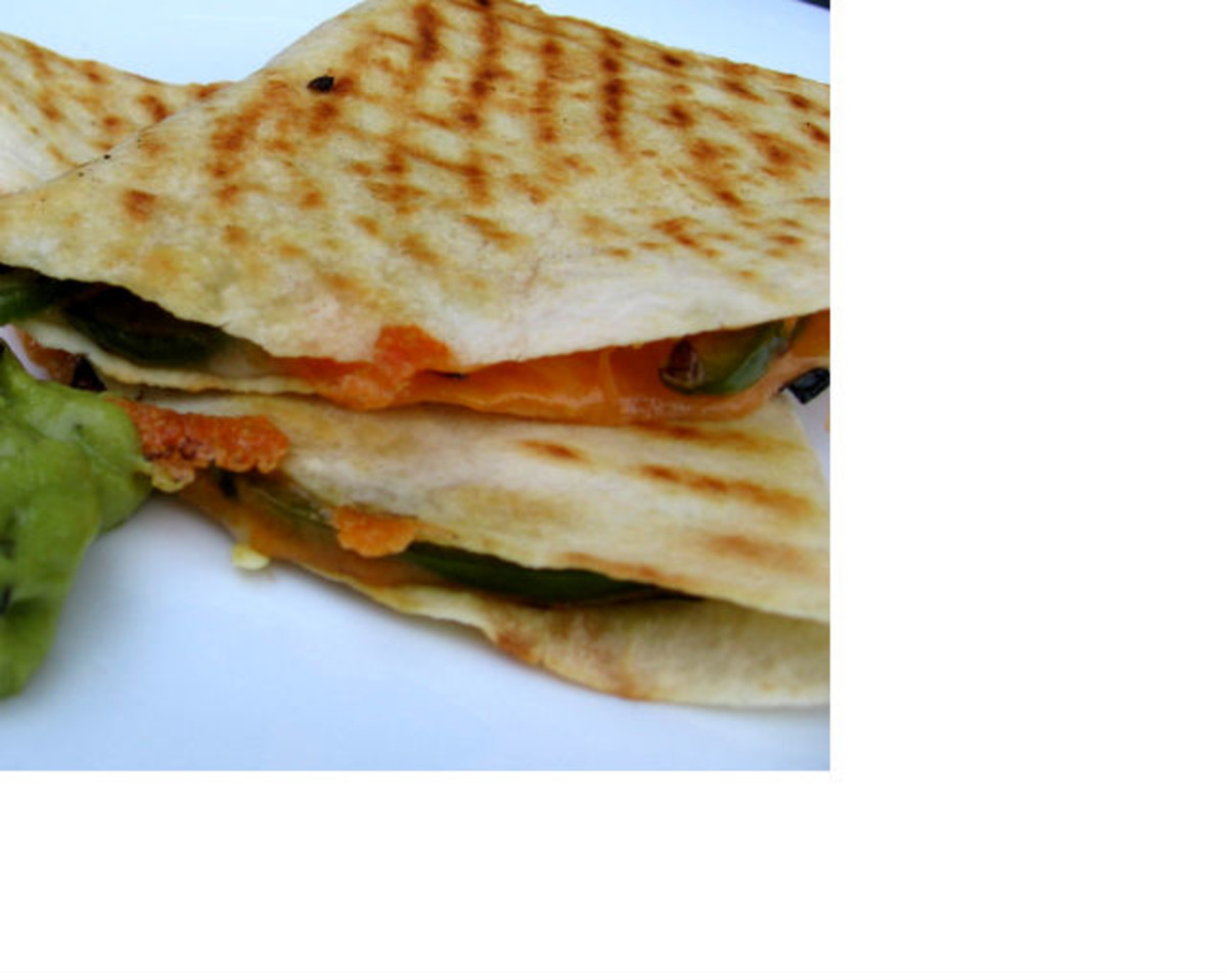 Cheese Quesadillas With Grilled Peppers image
