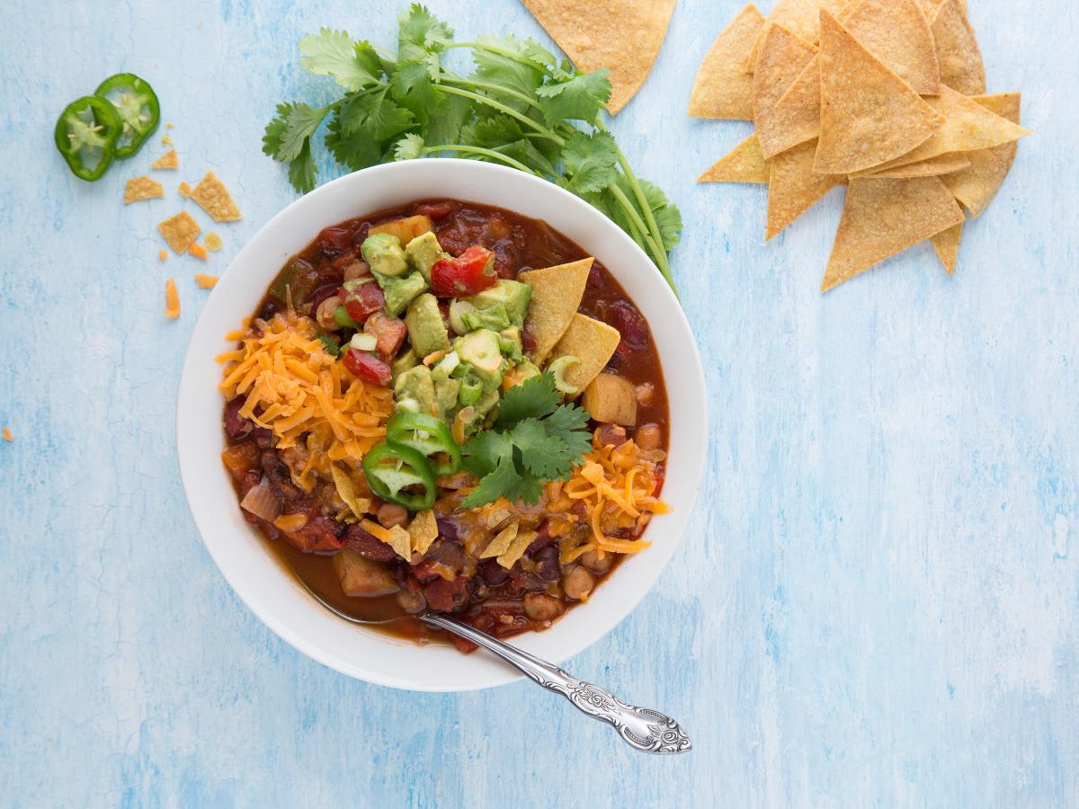 3 Bean Vegetarian Chili Recipe Food Com