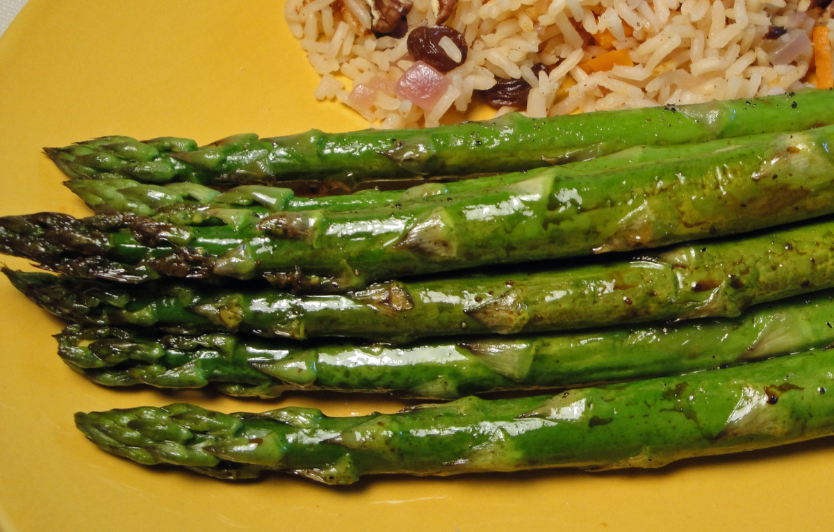Sesame-Roasted Asparagus image