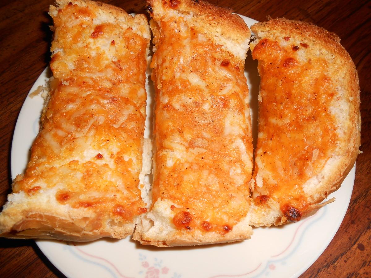 Three-Cheese Garlic Bread image