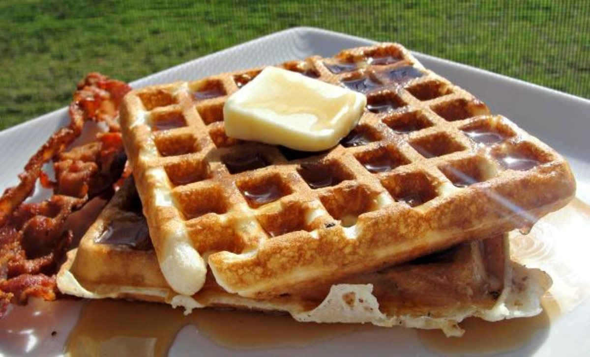 Overnight Refrigerator Waffles With Dutch Honey Recipe Food Com
