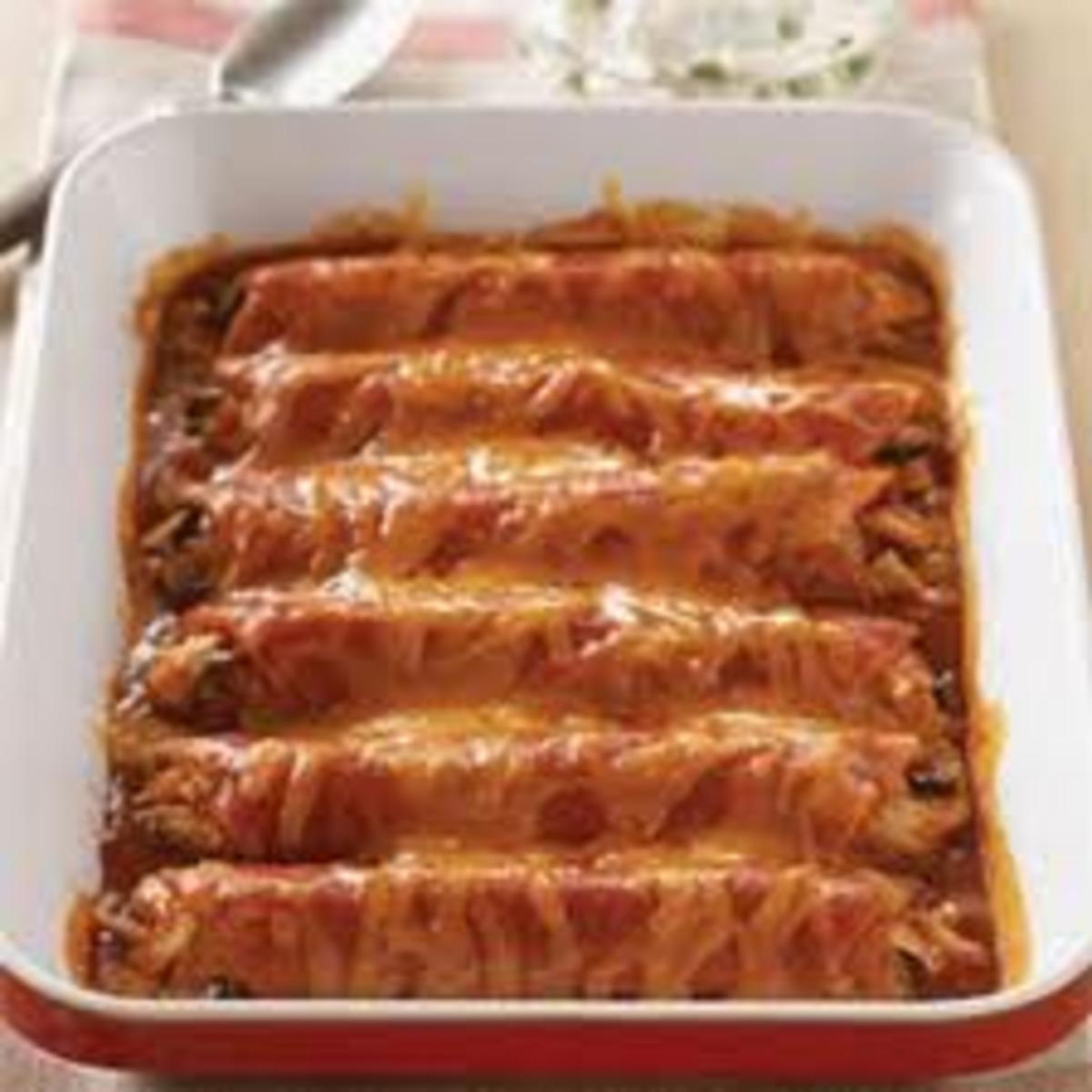 Vegetarian Wet Burrito Bake image