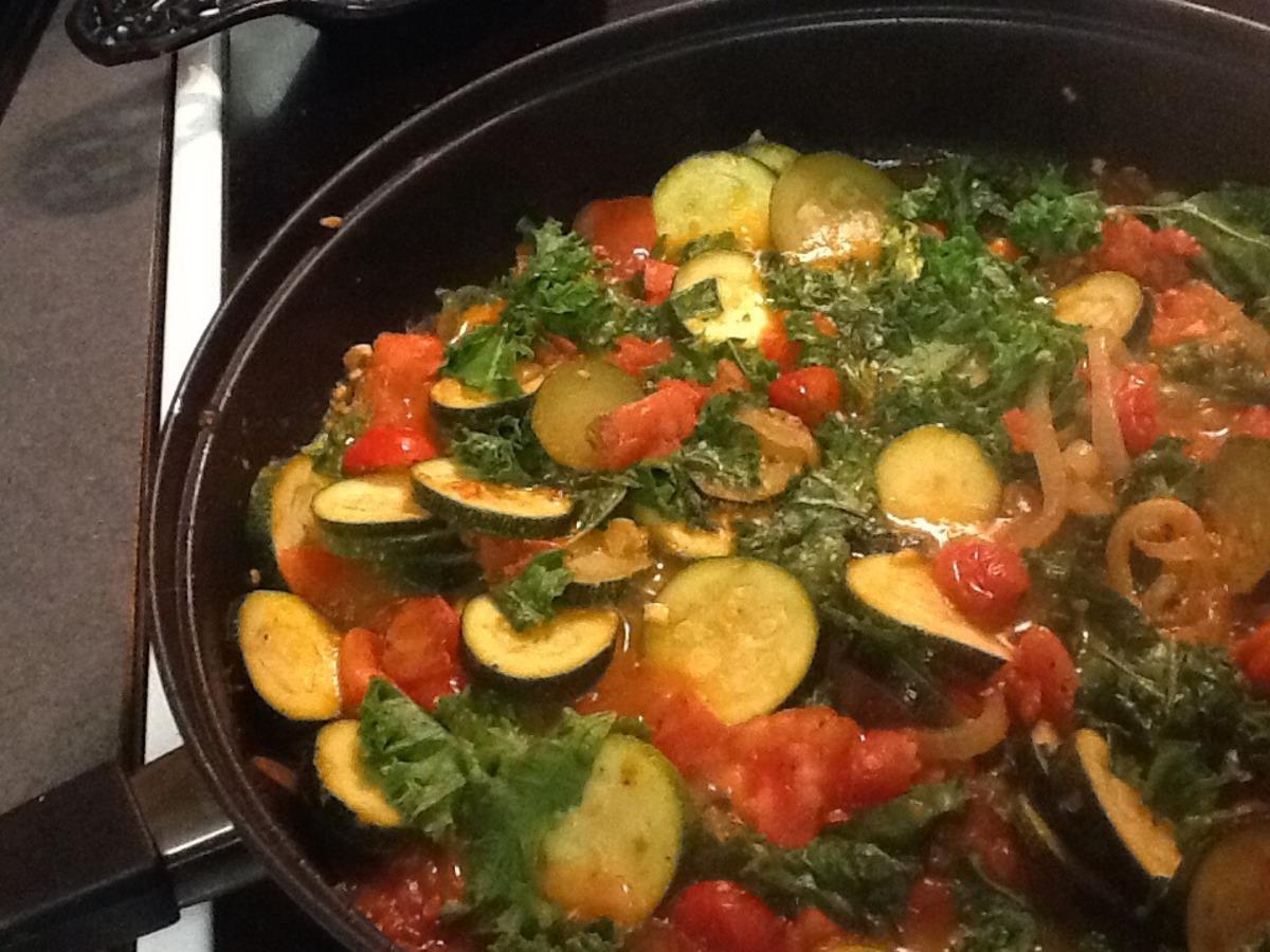 Zucchini, Kale, and Tomato Saute image