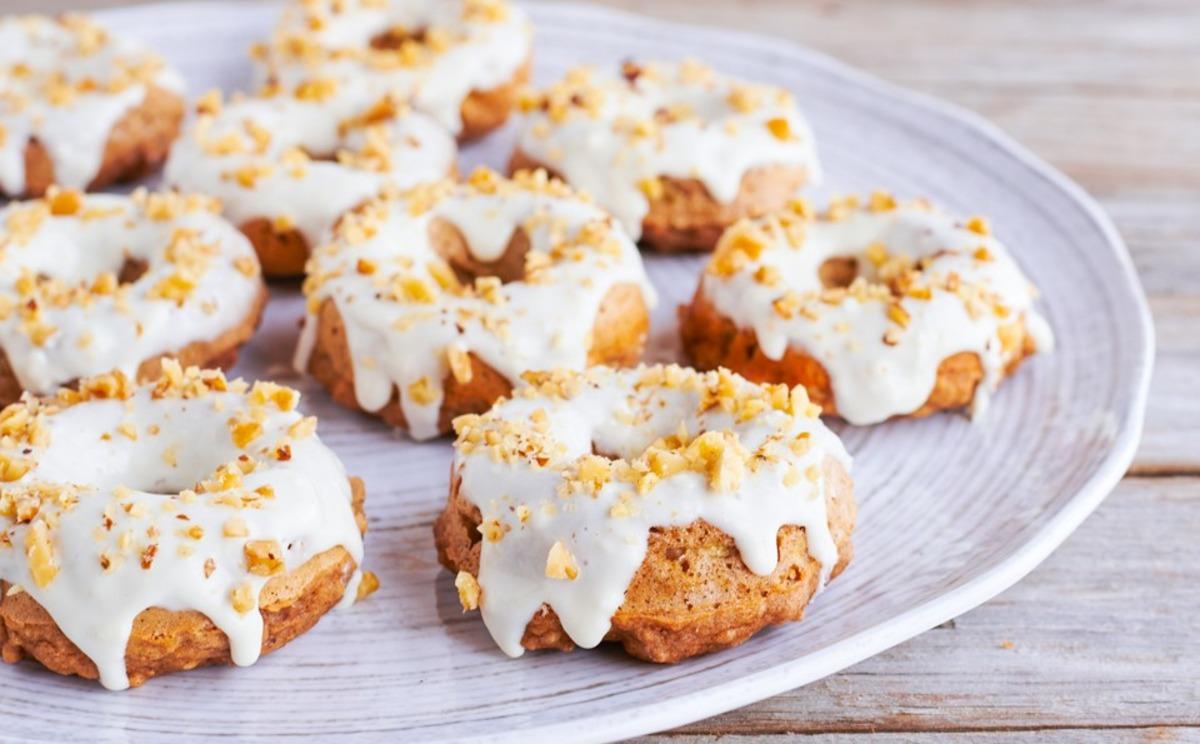 Baked Banana Nut Donuts image