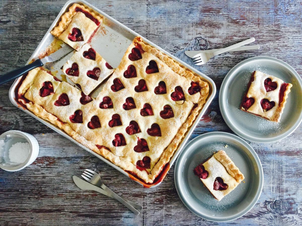 Chocolate Strawberry Slab Pie image