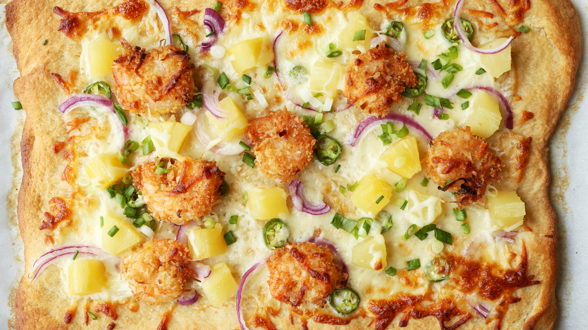 Coconut Shrimp Pizza image