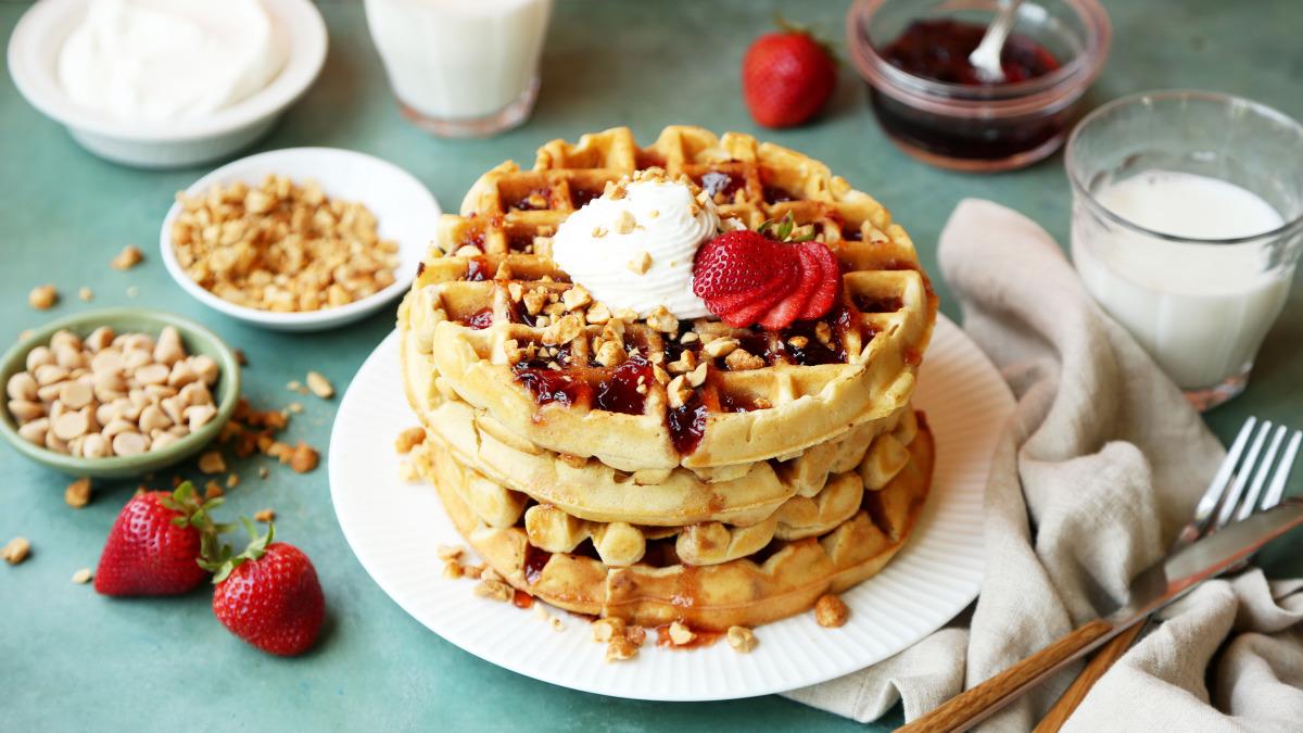 PB&J Waffles