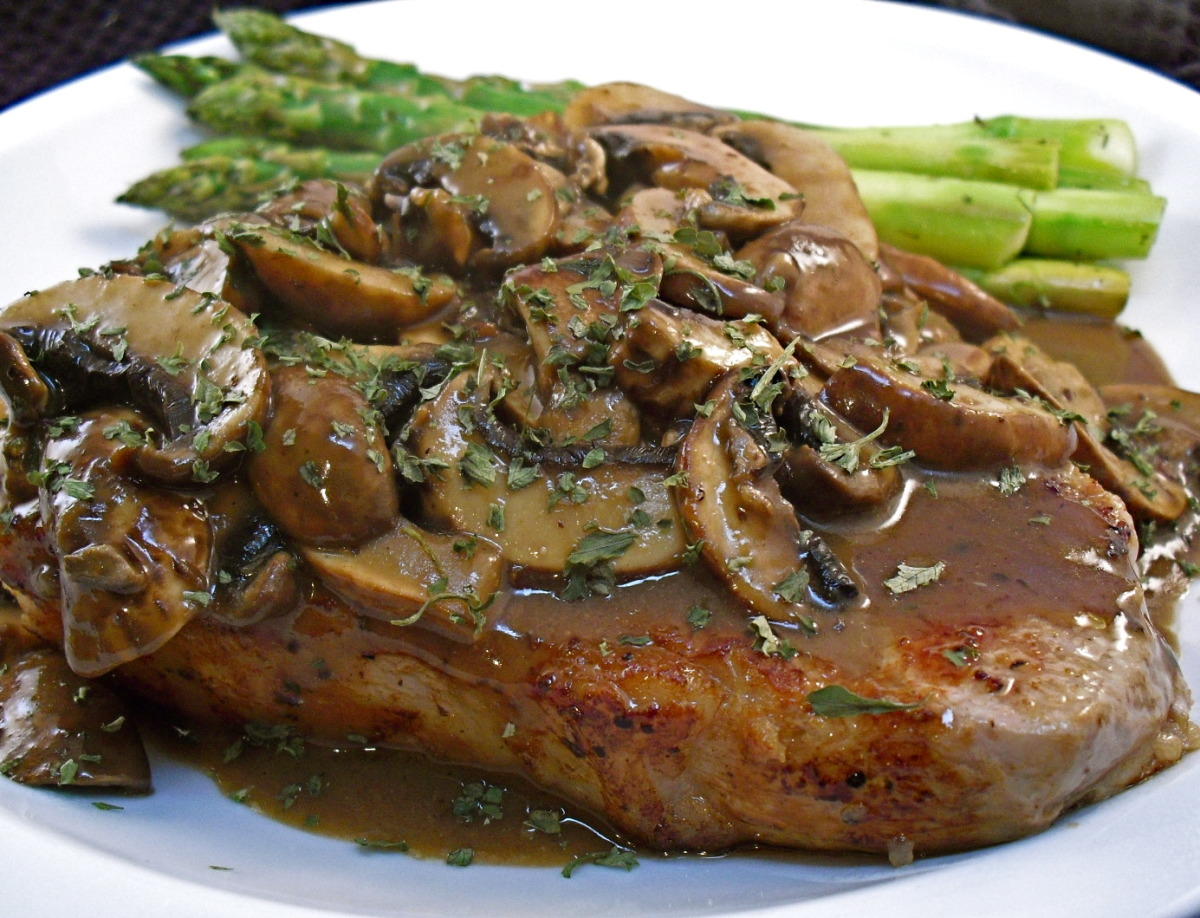 veal chop and mushroom recipe veal chops with mushrooms
