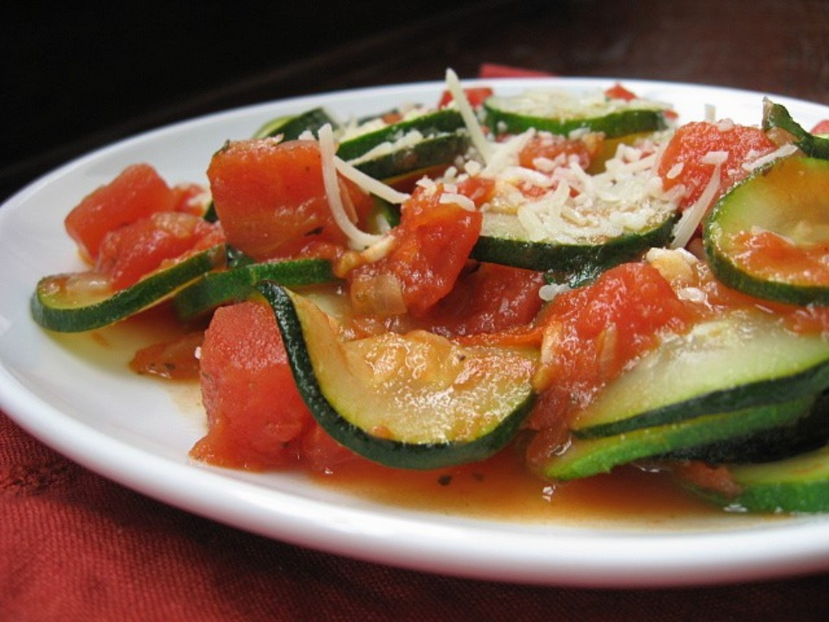 To Die For Zucchini And Tomatoes !!!! image