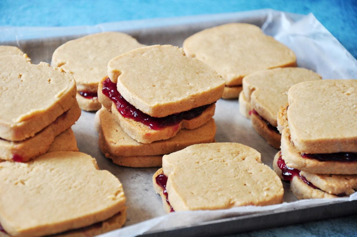 P.B.J.(sandwich-shaped ) Cookies: