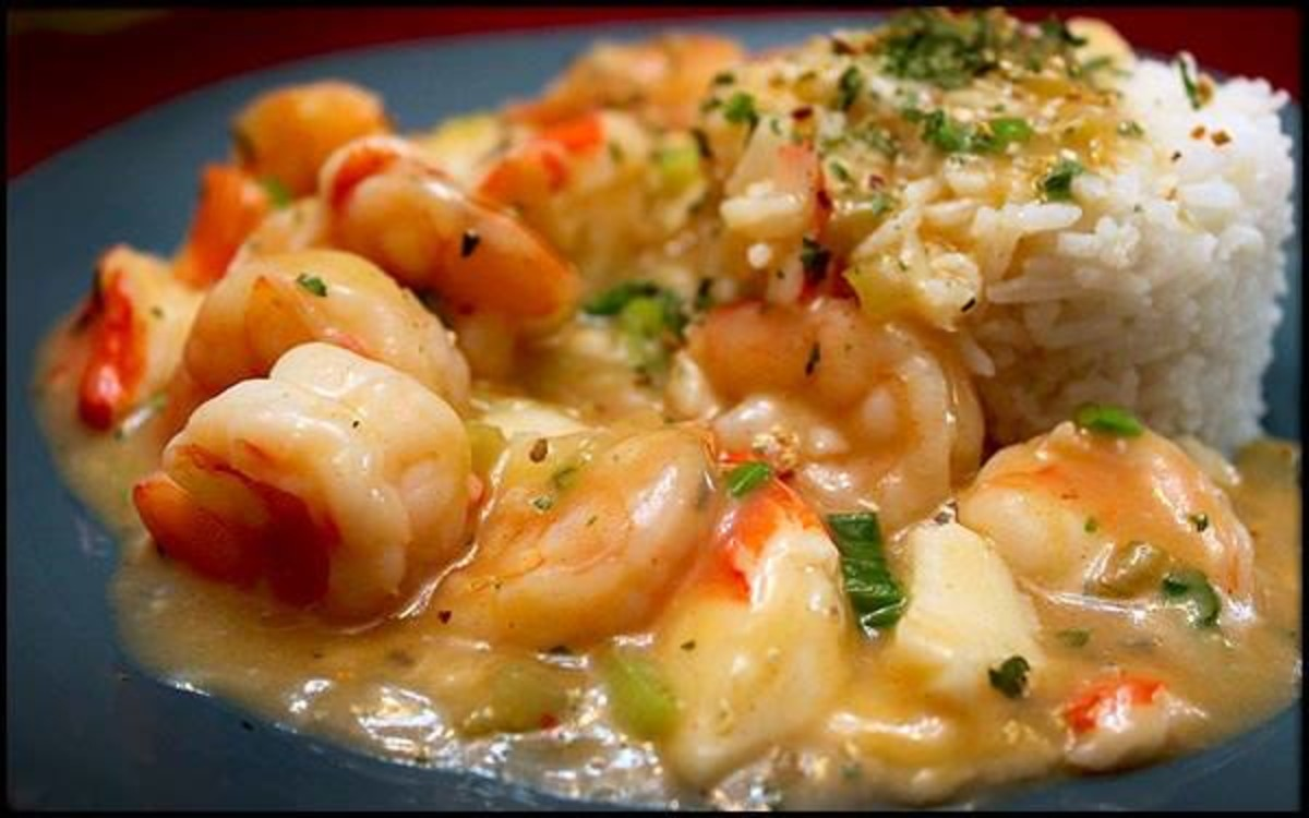 Shrimp and Crab Meat With Rice_image