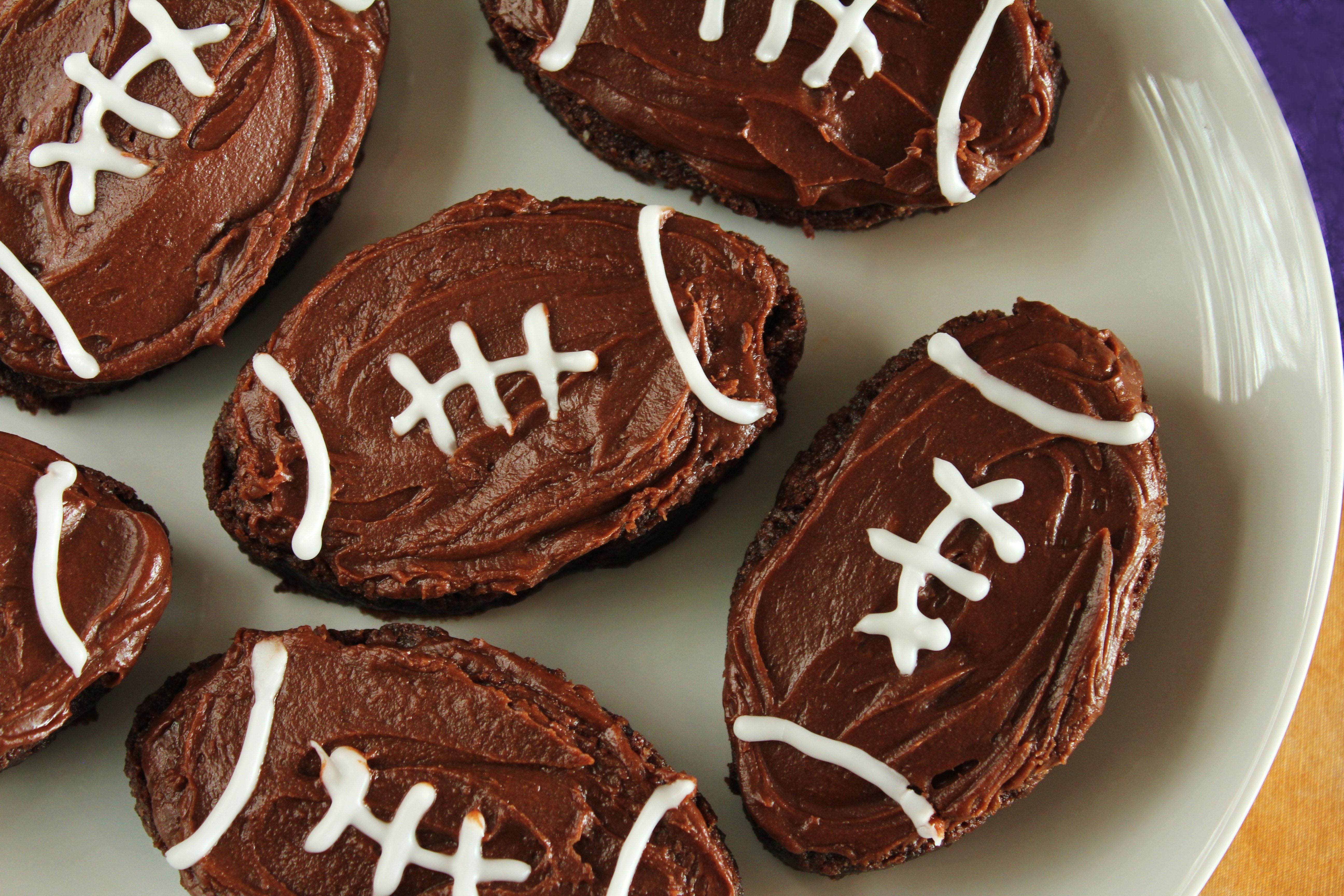 Football Shaped Chocolate Cake
