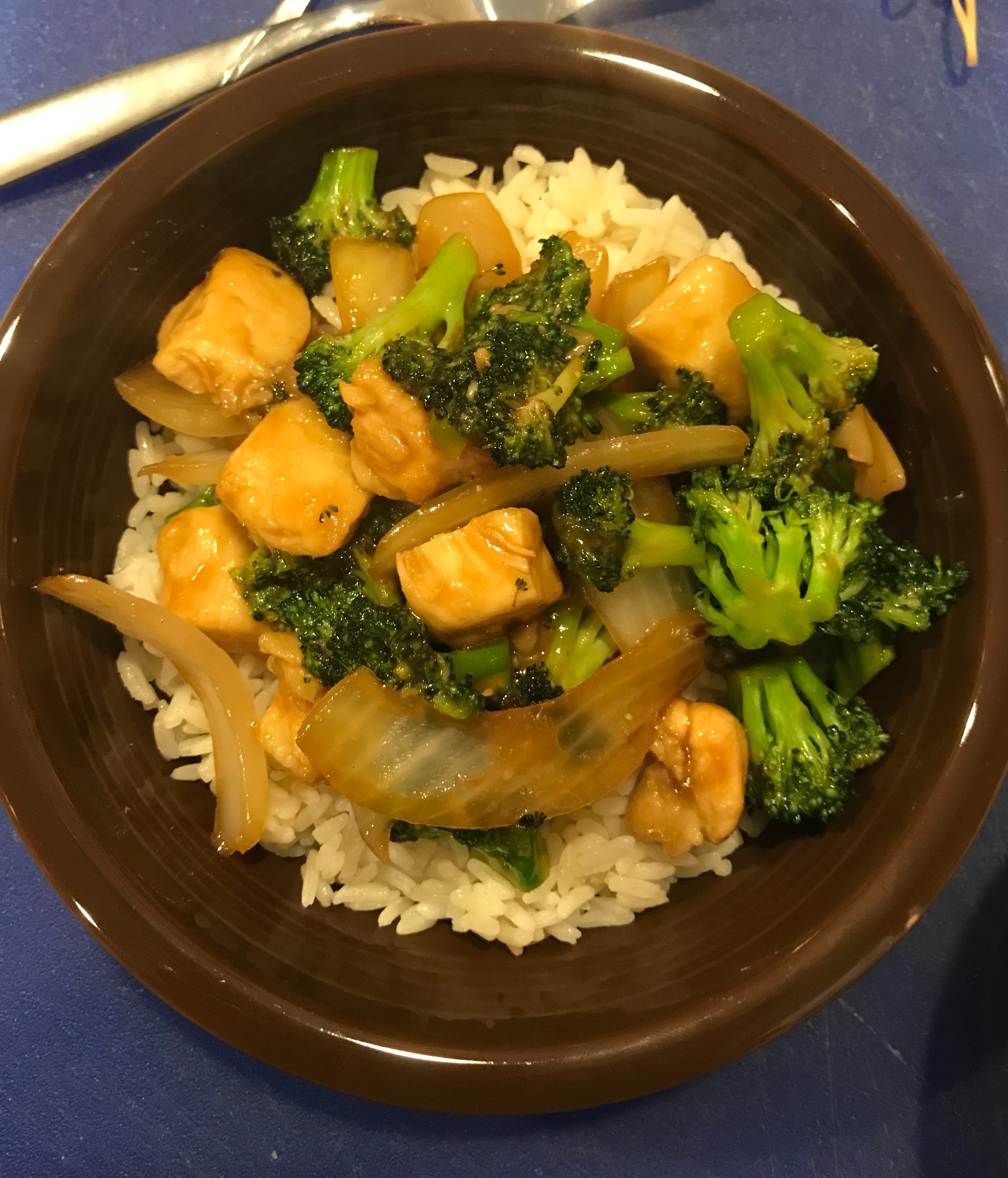 The best easy beef and broccoli stir fry recipe genius kitchen but we did have boneless skinless chicken breasts i cut them into bite size pieces and prepared the rest of the recipe according to directions forumfinder Images