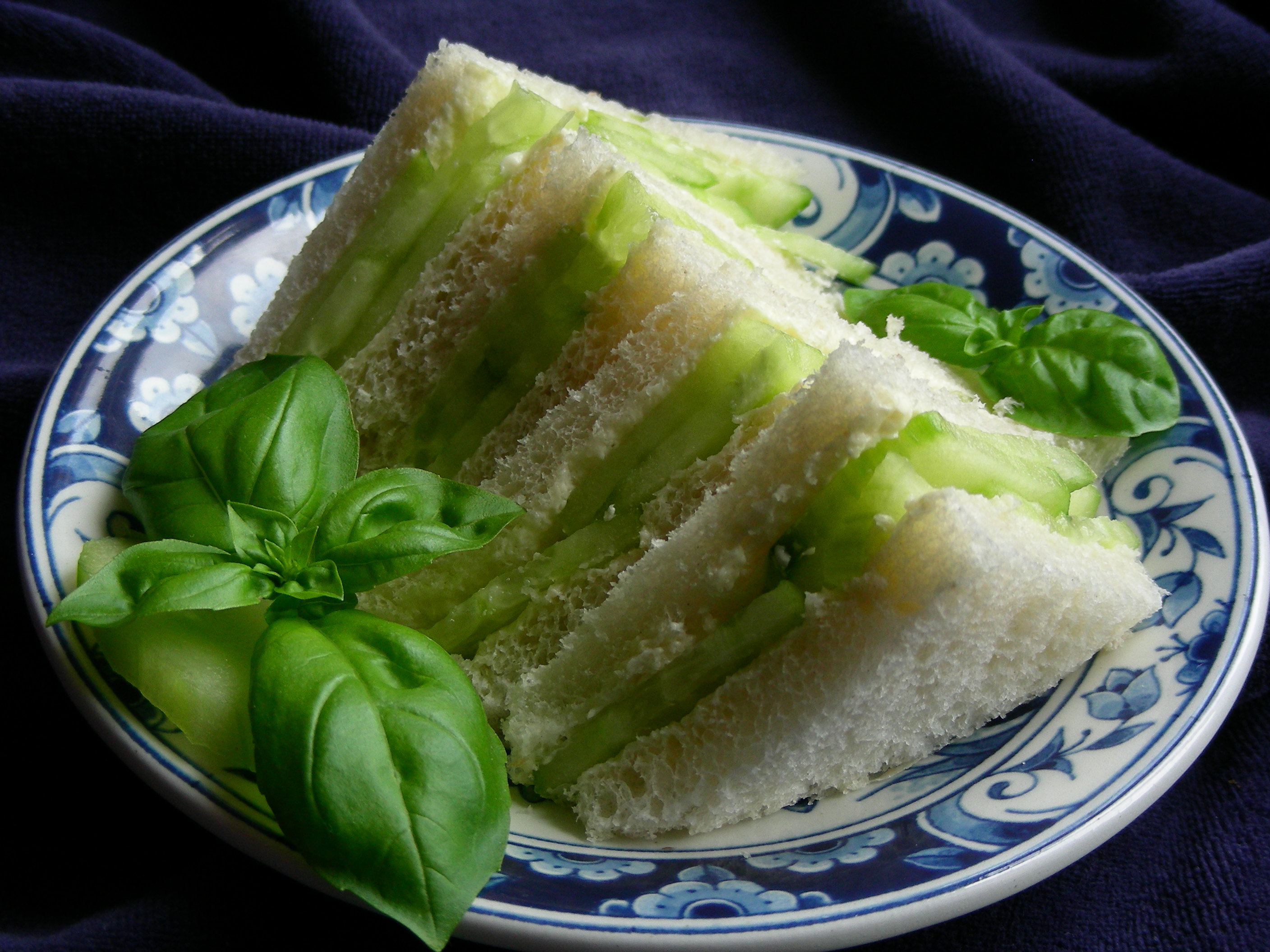 Chicken Cucumber Party Sandwiches