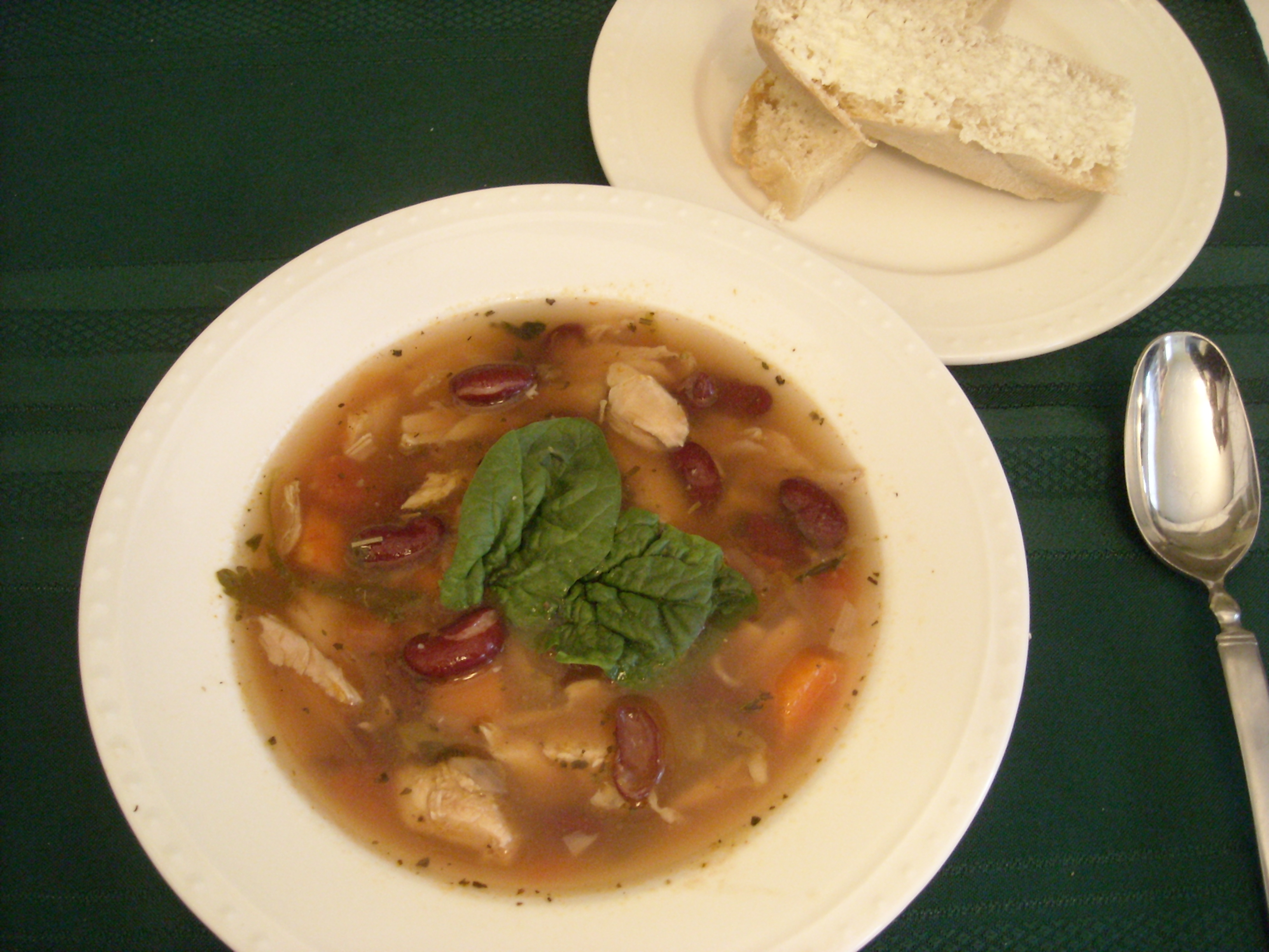 Italian Chicken Soup With Kidney Beans Recipe Food Com
