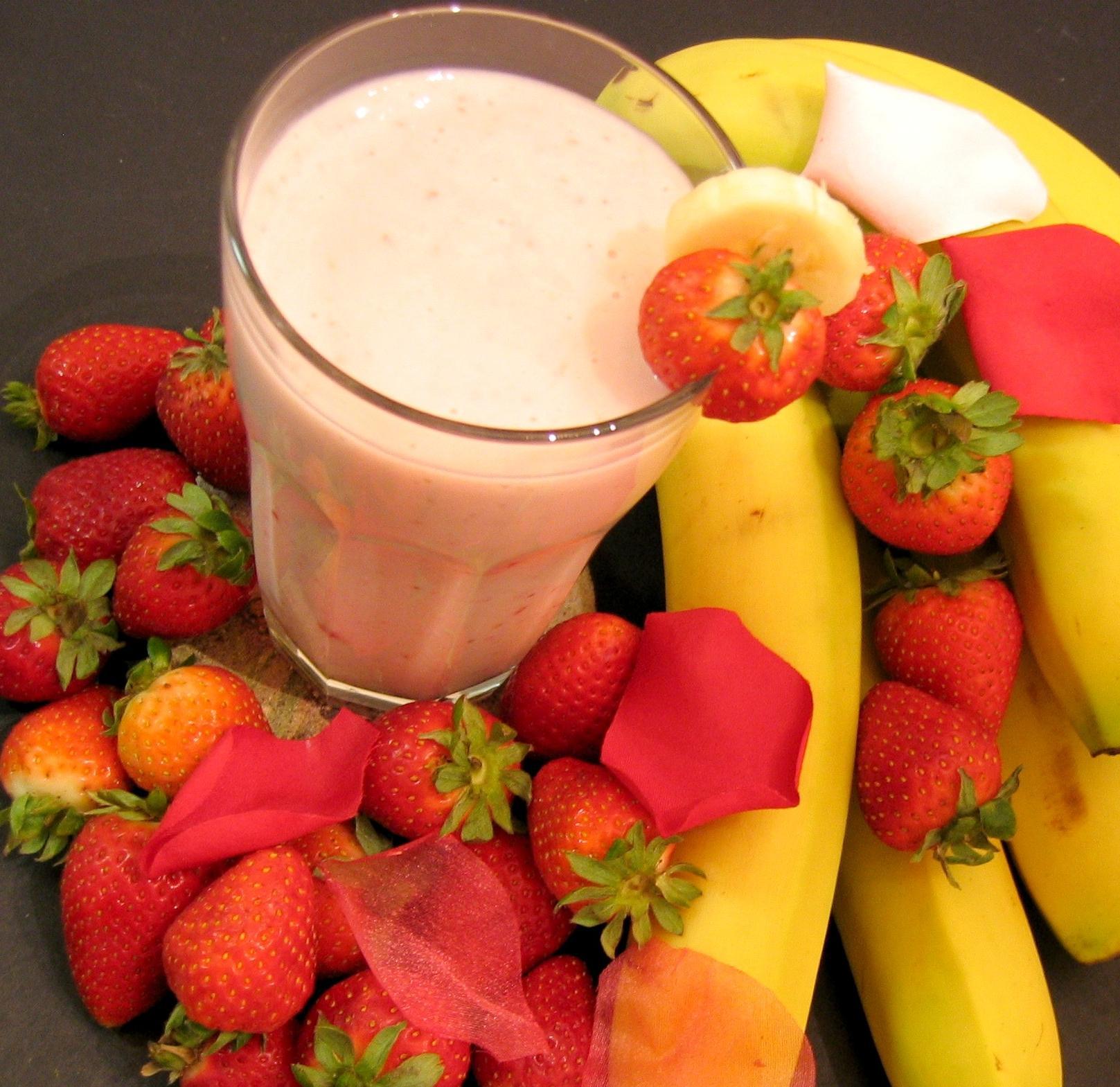 Lean Strawberry Banana Smoothie Recipe Food Com