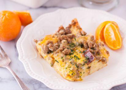 easy breakfast egg casserole recipe genius kitchen
