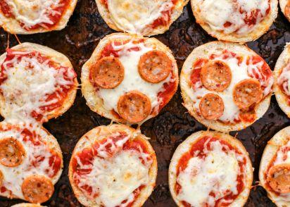 Pizza Bagel Bites Oamc Recipe Genius Kitchen