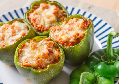 Low carb stuffed bell peppers recipe genius kitchen forumfinder Images