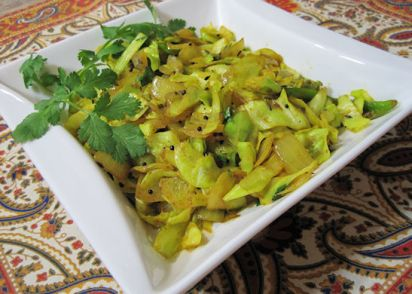 Spiced indian cabbage recipe genius kitchen forumfinder Image collections