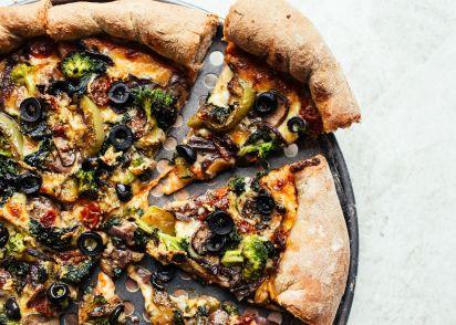 Gourmet cruisers vegetarian pizza recipe genius kitchen forumfinder Gallery
