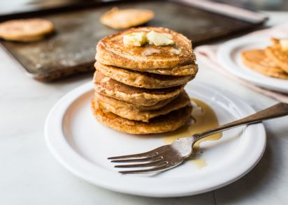 Light and fluffy pumpkin pancakes recipe genius kitchen forumfinder Images