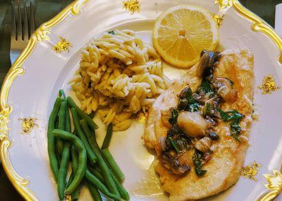 Chicken piccata with mushrooms recipe genius kitchen forumfinder Images