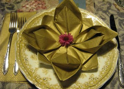 Serviette napkin folding maries lily pad variation lotus recipe serviette napkin folding maries lily pad variation lotus recipe genius kitchen mightylinksfo