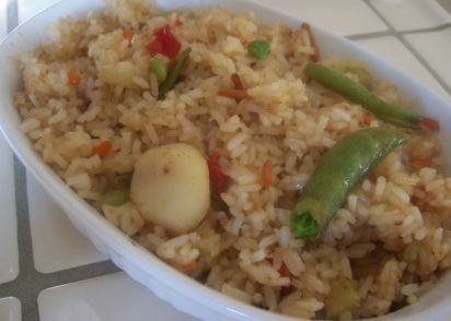 Easy fried rice for two recipe chinesenius kitchen ccuart Image collections