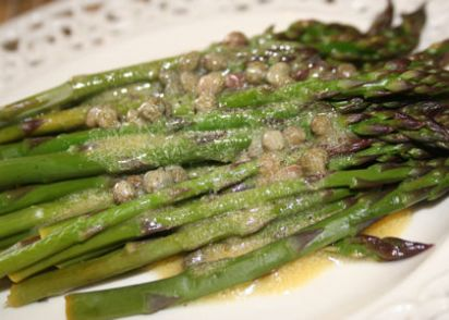 Asparagus With Lemon Caper Vinaigrette Recipe - Genius Kitchen
