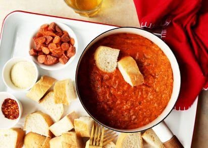 recipe: meatless pizza fondue [19]