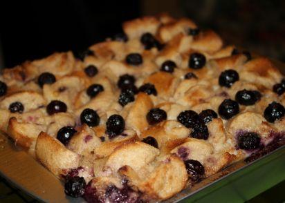 blueberry bagel bread pudding recipe dessert genius kitchen
