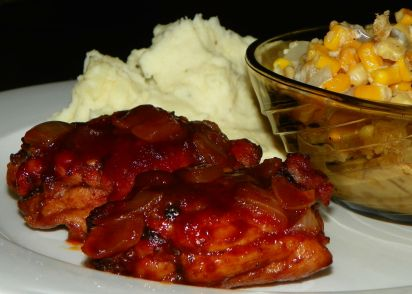 Delicious oven barbecued chicken thighs recipe genius kitchen forumfinder Image collections