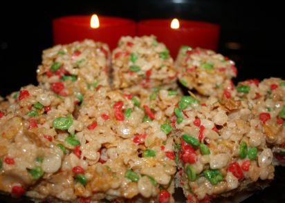 christmas rice krispies squares recipe genius kitchen - Christmas Rice