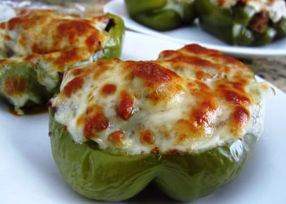 Philly cheesesteak stuffed peppers recipe genius kitchen forumfinder Images