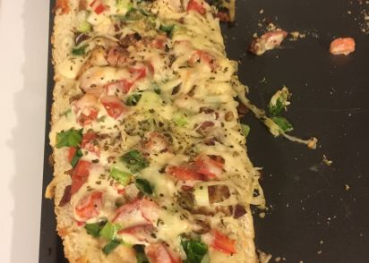 Chicken Bacon Alfredo Bread Boat Recipe Genius Kitchen