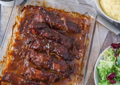 Beer n bbq braised country style pork ribs recipe genius kitchen forumfinder Choice Image