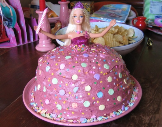 Image Result For Easy Barbie Birthday Cake Ideas