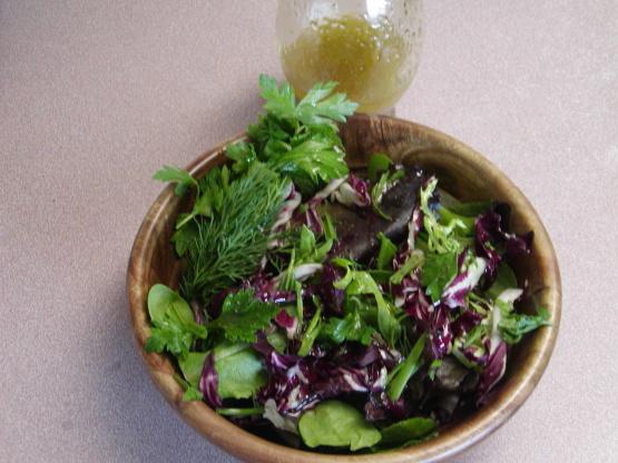 Truffle Dressing Herb Salad Recipe Genius Kitchen
