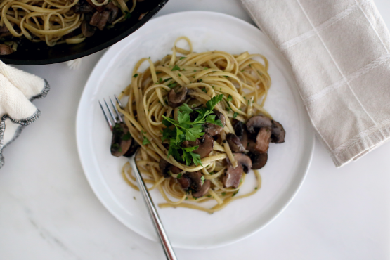 Pasta With Mushroom Garlic Sauce Recipe