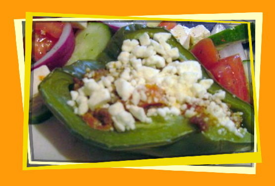 Low Carb Mediterranean Stuffed Bell Peppers Recipe - Cheese.Genius Kitchen