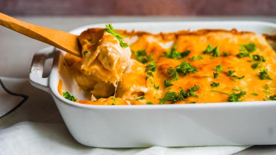 Simply Sour Cream Chicken Enchiladas Recipe Genius Kitchen