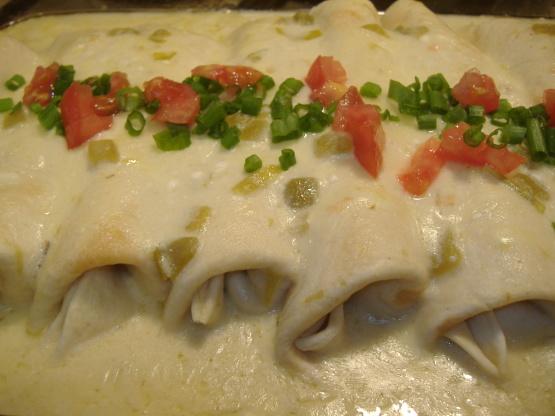 Chicken Enchiladaswhite Sauce Recipe Genius Kitchen