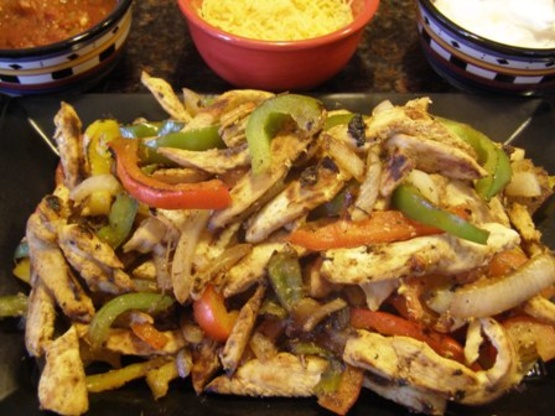 how to cut chicken into strips for fajitas