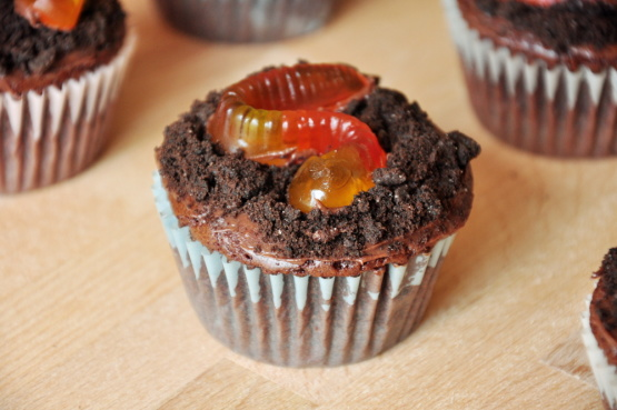 Easy Halloween Worm Cupcakes Recipe