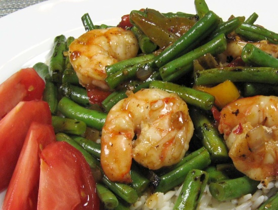 Spicy Shrimp With Green Beans And Red Pepper Recipe - Genius Kitchen