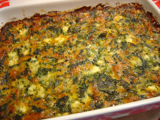Cottage Cheese Spinach Casserole Recipe