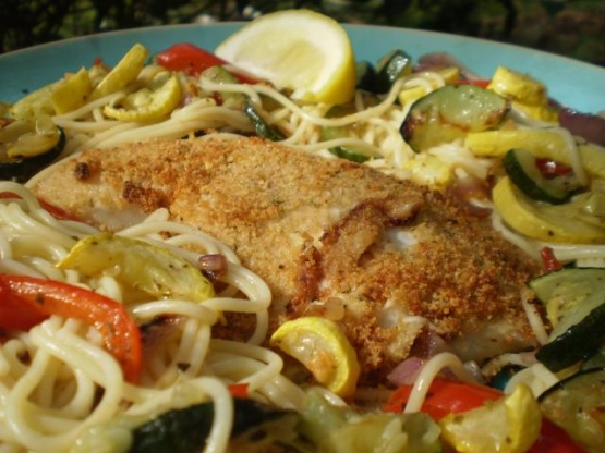 Parmesan Crusted Tilapia Olive Garden Copycat Recipe Genius Kitchen