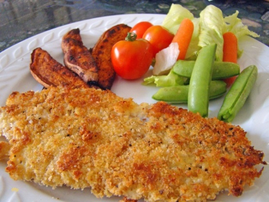 Oven baked fish and chips recipe genius kitchen for Baked fish and chips