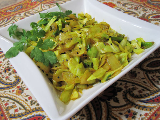 Spiced Indian Cabbage Recipe Food Com